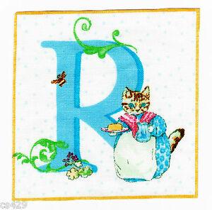 letter R Beatrix potter wall decal square wall safe fabric cut out 3.5 inch