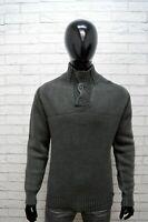 Maglione Gas Uomo Pullover Lana Taglia L Sweater Cardigan Man Felpa Grigio