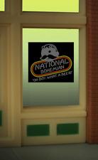 Miller Engineering HO/O  Natty Boh Beer Window Sign  MIL8845