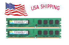 For Intel RAM 4 GB 2X 2GB PC PC2-5300U 2Rx8 DIMM Memory Kit Desktop DDR2 667Mhz