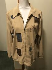 ALFRED DUNNER 14 Tan Jacket With Embroidery
