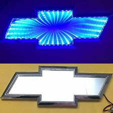 3D LED Car Logo Blue Light Auto Rear Emblems Lamp For Chevrolet CAPTIVA LOVR