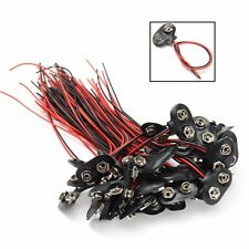 50x 9V Battery Connector Snap Clip T Style Cable Wire Lead 9 Volt Holder Adapter