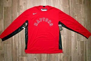 Nike NBA Toronto Raptors Size L Player Issue Long Sleeve Warm-UP Shirt