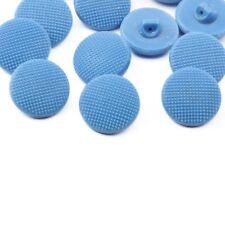 Vintage Czech glass buttons Lot (12) 18mm 1930s vintage Czech blue dimple