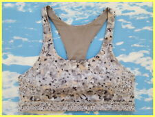 LULULEMON TOP SPEED FLEUR SILVER SPOON GRAY RACERBACK FITNESS RUN SPORTS BRA 4