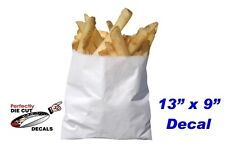 French Fries in a Bag 9''x13'' Decal for Restaurant or Carnival Food Trailer