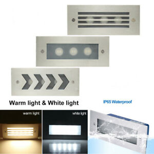 LED Stair Step Recessed Wall Light Outdoor Garden Waterproof In-Ground Lamp IP65