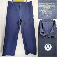 Lululemon Athletica Mens Size 38 Athletic Pant Golf Pant Nylon Polyester Blue