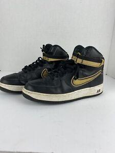 NIKE Air Force 1 High '07 LV8 Sport Black Metallic Gold Mens Shoes 10 AV3938-001