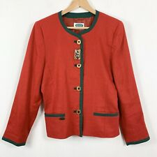 New listing Vintage Jacket Blazer 10 Trachtenmoden Alpentraum Button Up Shoulder Pads Red