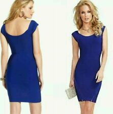 NWT Guess by Marciano blue Carole Bandage Gold-tone zippers Dress size S