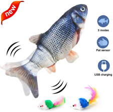 Electric Moving Fish Cat Toy Dog Chew Toy, Bite Toy For Indoor Cats Dogs Plush T