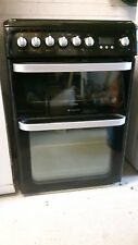 Hotpoint Ultima HUD61K - 60cm Dual Fuel Cooker Double Elec. Ovens & Gas Hob