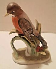 Lefton Red Robin - Hand Painted Porcelain - Kw464
