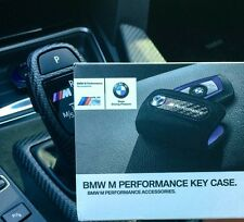 BMW M Performance Key Holder Carbon Alcantara Leather Case NEW ORIGINAL