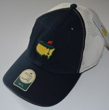 2018 MASTERS (NAVY/WHITE) Trucker FITTED (M/L) Golf HAT from AUGUSTA NATIONAL