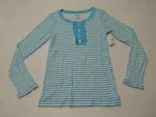 Old Navy Shirt Girls Size Xl (14) Blue & White Striped Shirt New With Defects