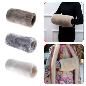 Women Men Luxurious Super Soft Faux Fur Muff Hand Warmer Winter Necessary