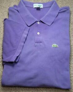 CHAMISE LACOSTE-Purple Pique Cttn, Mens SS/2B, Summer Polo Shirt-(4.XB)