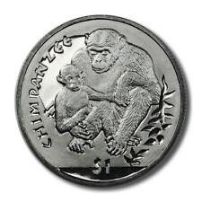 Sierra Leone Chimpanzee Monkey $1 2010  BU Crown
