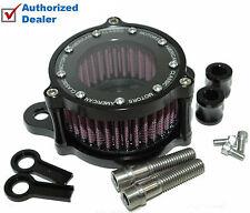 Black Billet Air Cleaner Kit Intake Filter Harley Sportster Stage 1 High Flow EV