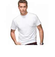 HANES 'BEEFY' TWIN-PACK T-SHIRTS/WHITE - Small