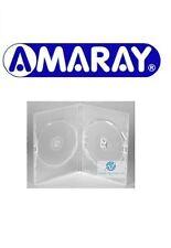 100 Doppie chiaro CUSTODIA DVD SLIM 7 mm spina ricambio copertura faccia a faccia Amaray