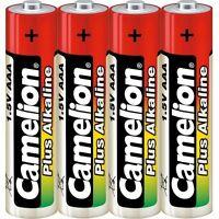 Lot de 4  piles/battery  Camélion  Alcaline Plus AAA LR03 sous cello