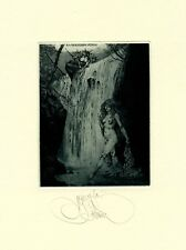 Exlibris by K. Kalinovich  PUNGS WATERFLOW Original Signed E.A.
