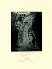Exlibris by K. Kalinovich  PUNGS WATERFLOW Original Signed E.A.