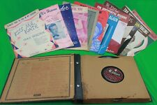 Classic 78 Record Album w/11 Records and 13 Pieces of Classic Sheet Music