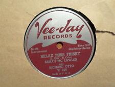 VEE JAY 78 RECORD/SARAH MCLAWLER/RICHARD OTTO/RELAX MISS FRISKY/SNOWFALL/EX