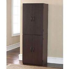 Four Door Storage Cabinet Pantry Cupboard Shelves Kitchen Office Adjustable New