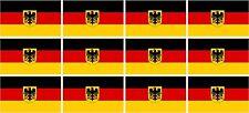 "12 Germany Flag Decal 2""x1.2"" German Deutsch Vinyl Hard Hat Helmet Sticker Eagle"