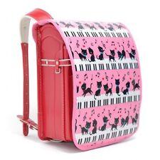New Japanese School Backpack Randoseru Cover Black cat waltz Pink from JPN A714