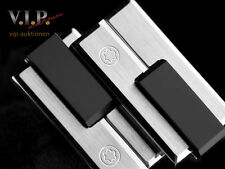 MONTBLANC CUFFLINKS SILVER & FINE RESIN STERLING SILVER & RESIN CUFF-LINKS