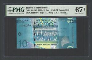 Samoa 10 Tala ND(2008) P39a Uncirculated Graded 67