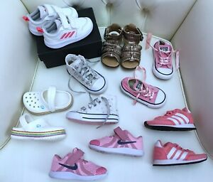 LITTLE GIRLS TODDLER SHOES BOOTS BUNDLE SIZE 5 x7 PAIRS Converse Nike Adidas
