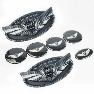 Set 7pcs 2010-19 For Hyundai Genesis Coupe Carbon Fiber ABS WING Logo Emblem