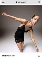 TRF Zara Black Lace Dress Size Medium BNWT SOLD OUT