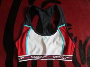 ❤️ SPEEDO Bustier Bikini Bodysuit Top Tankini 40 L Unikat navy aqua rot NEU ❤️
