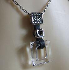 NEW Stunning Chain & Pendant Swarovski Crystals, Silver Horseshoe, Leather FAB!