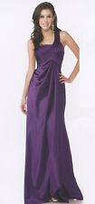 Bridesmaid Dress Long Formal Occasion  Party  Evening Prom Chiffon Eggplant S/6