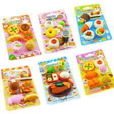 Cute Child Kid School Novelty Puzzle Animal Rubber Eraser Sets Toys Gift Random