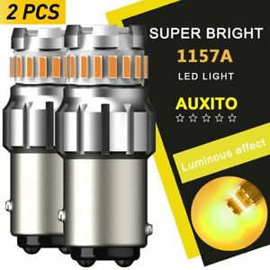 AUXITO 1157 2357 2057 LED turn signal parking light bulb Amber 3000K Bright AP29