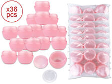 36 Pieces 50 Gram/50ml Pink Round Frosted Sample Jars with Inner Liner and Lid