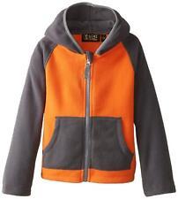 iXtreme Boys' Color-Block Fleece Jacket, Orange, 18