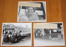"Vtg 1960's DWIGHT SALISBURY ""Beach Boys"" TF AHRA NHRA 8x10 Press Photo Lot Of 3"