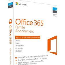 Logiciel de bureautique MICROSOFT Office 365 Famille Neuf...